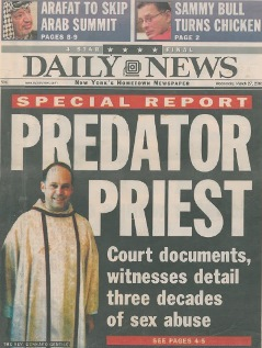 Front Page, Twisted Journey of a Problem Priest, by Heidi Evans et al., Daily News, March 27, 2002