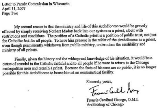 Deposition Of Cardinal Francis E George OMI With Exhibits January