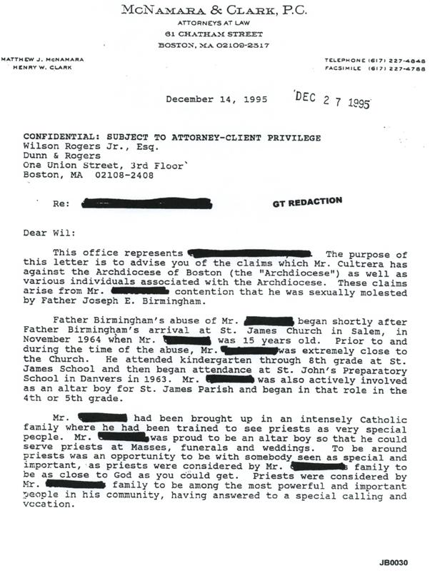 Demand Letter From Paul Cultrera In Birmingham Case December