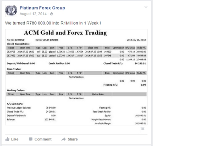 Platinum forex group facebook