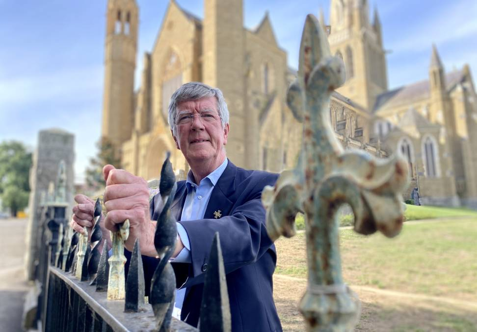 The Very Reverend Brian Boyle is deeply disappointed that ribbons protesting and acknowledging the Catholic church's role in institutionalised sexual abuse have been removed. Picture: Supplied