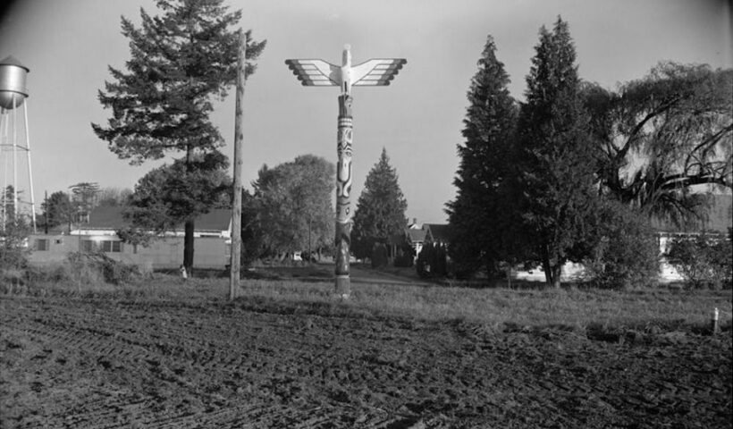 Field at Chemawa Indian School, Salem, Oregon, pictured after 1933 (Library of Congress, Prints & Photographs Division, HABS OR-129)