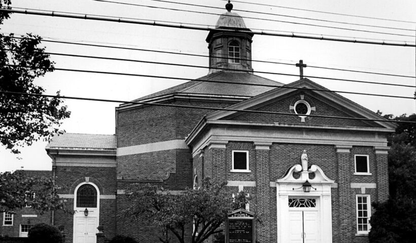 This 1987 file photo shows the front of St. Clare's R.C. Church in Great Kills. (Staten Island Advance)
