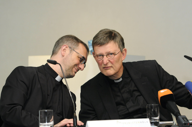 Archbishop Stefan Heße, left, pictured here with Cardial Rainer Maria Woelki in 2014. Horst Galuschka / dpa / Alamy