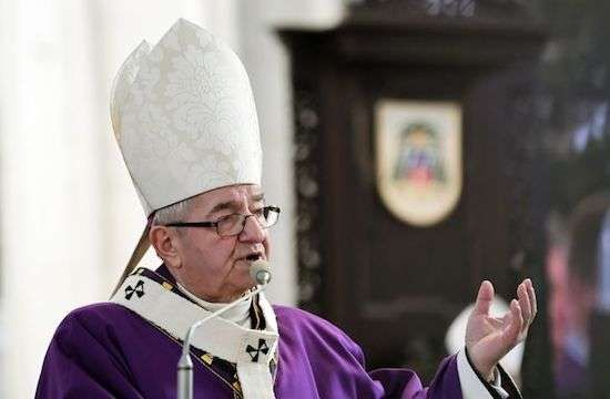 Archbishop Slawoj Leszek Glódz, former archbishop of Gdansk, in January 2019. (Photo by ADAM WARZAWA/ EPA/ MAXPPP)   By Etienne Bianchi | Poland  Read more at: https://international.la-croix.com/news/religion/vatican-sanctions-two-polish-bishops-for-mishandling-abuse-cases/14065