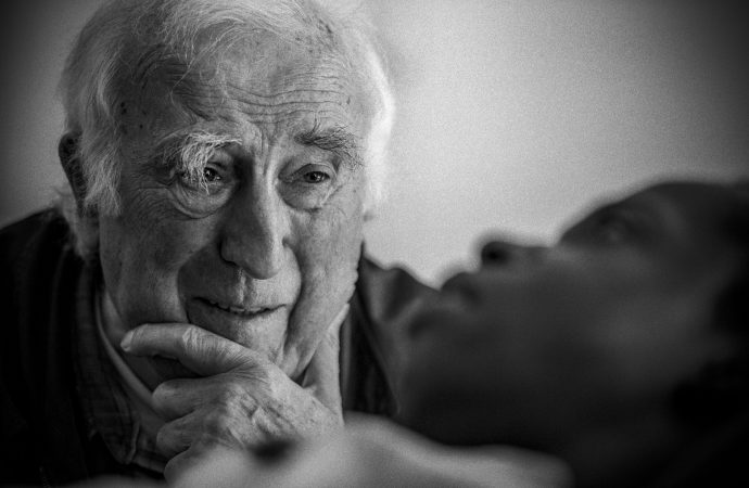 "Jean Vanier, founder of the L'Arche communities, appears in the documentary ""Summer in the Forest."" (Credit: CNS photo/Abramorama.)"