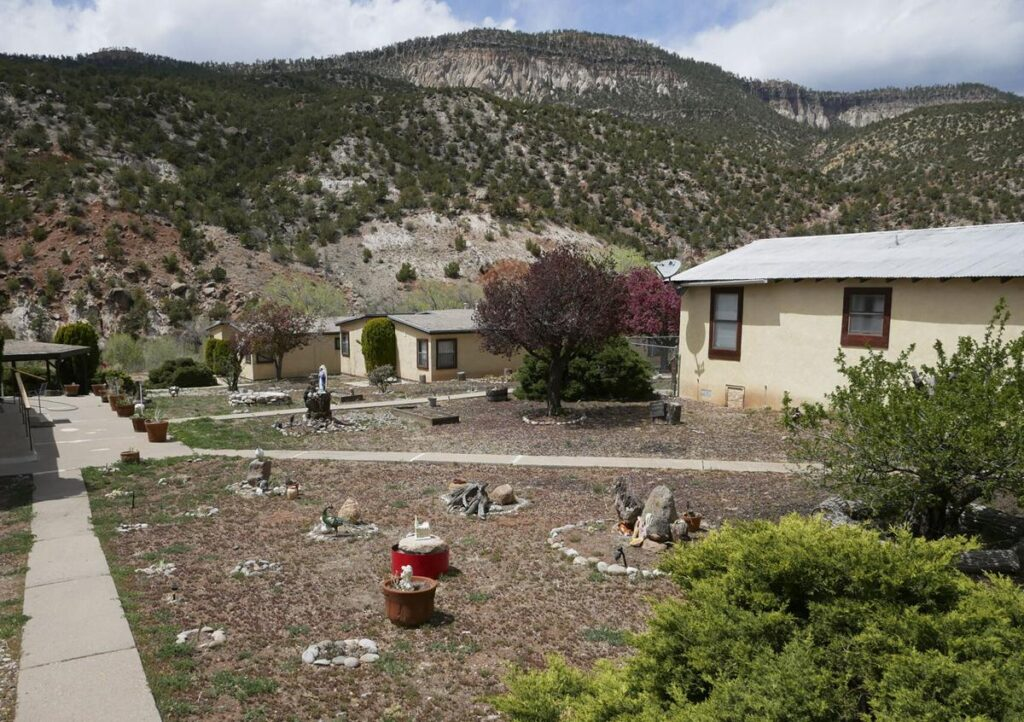 Lodging units in a complex near Mary, Mother of Priests Catholic Church. Matt Dahlseid / The New Mexican