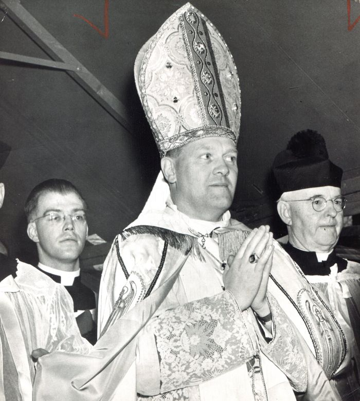 The Republican file photo (custom credit) The Most Rev. Christopher J. Weldon at his installation as bishop of the Roman Catholic Diocese of Springfield in March 1950.