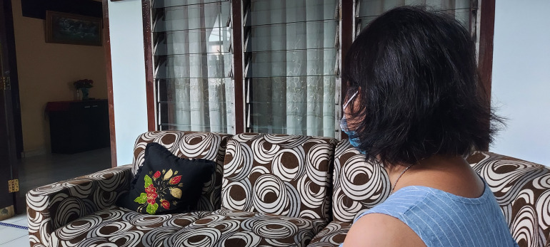 Mira, the mother of one of the alleged victims in Medan, says she is proud of her daughter for speaking out [Aisyah Llewellyn/Al Jazeera]