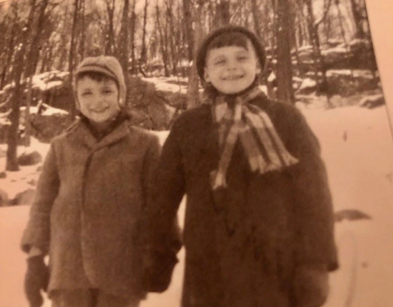 """From left to right, 7-year-old """"Chuckie"""" and 8-year-old Bobby Carroll in 1948, two orphans in foster care, before they were sent to the New Jersey State Colony for Boys, an institution later renamed the New Lisbon Developmental Center."""