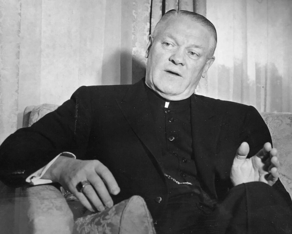 The Most Rev. Christopher J. Weldon, seen here in a January 7, 1976 file photo, was bishop of the Roman Catholic Diocese of Springfield from 1950 until 1977. An independent investigation determined allegations that Weldon sexually abused a Chicopee youth were credible.