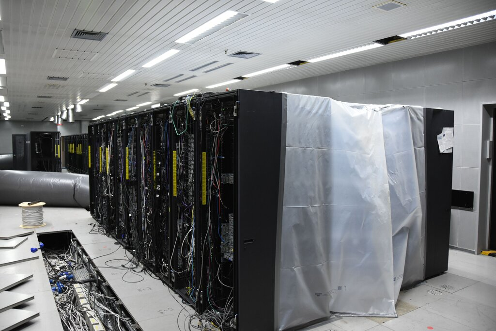 A computer server rack in a disused NATO bunker discovered by the German police in 2019 and used to host sites on the dark net. Credit...Rhineland-Palatinate Police Press Office / EPA, via Shutterstock