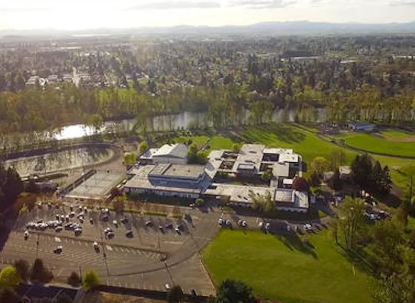 Marist Catholic High School in Eugene, Oregon, where Brother Robert Ryan worked in the 1970s. He is accused in a recently filed lawsuit of repeatedly molesting a male former student there. Marist Brothers