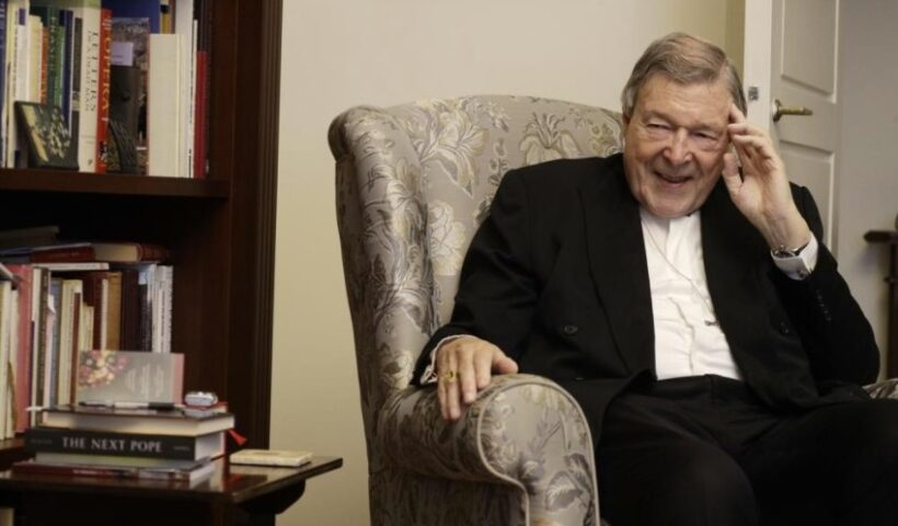Australian Cardinal George Pell is interviewed by The Associated Press in his home at the Vatican, Thursday, May 20, 2021. Pell, who was convicted and then acquitted of sex abuse charges in his native Australia, is spending his newfound freedom in Rome. Pell strongly denied the charges and his supporters believe he was scapegoated for the Australian Catholic Church's botched response to clergy sexual abuse. (AP Photo / Gregorio Borgia)