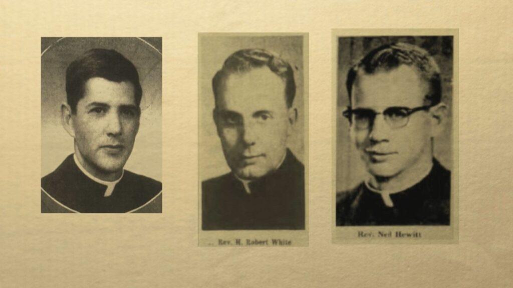 Three priests, including Rev. H. Robert White and Rev. Neil Hewitt