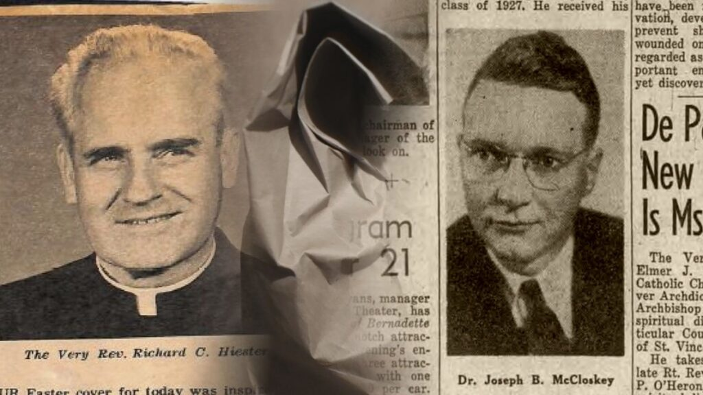 Rev. Richard Hiester (left) and Dr. Joseph McCloskey (right)