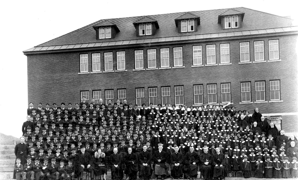 The Kamloops Indian Residential School in 1937.Credit...Archdiocese of Vancouver
