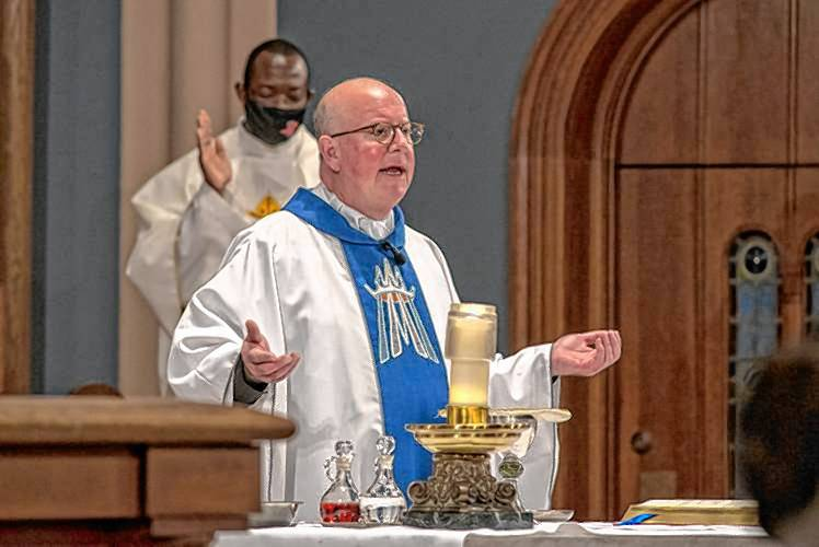 Bishop William D. Byrne of the Diocese of Springfield celebrates Mass at the Cathedral of St. Michael the Archangel on Tuesday, Dec. 8, 2020, in Springfield. Gazette File Photo