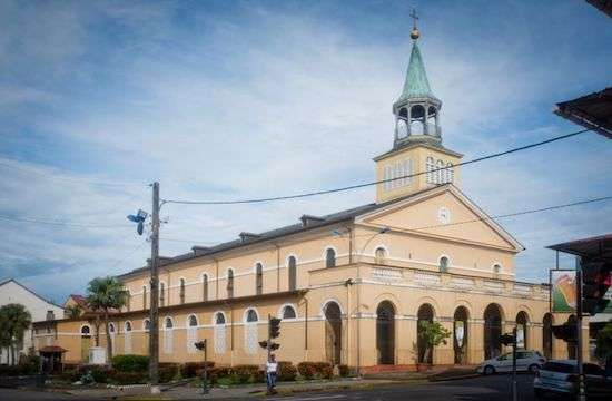 Holy Savior Cathedral in Cayenne, French Guiana, in July 2013. (Photo byJEAN-MATTHIEU GAUTIER/CIRIC)  Read more at: https://international.la-croix.com/news/religion/vatican-investigates-retired-bishop-in-french-guiana-over-abuse-allegations/14092