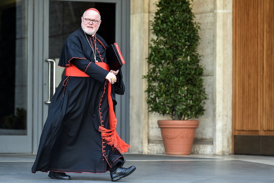 Cardinal Reinhard Marx of Munich and Freising, Germany, has submitted his resignation to Pope Francis, saying that bishops must begin to accept responsibility for the institutional failures of the church in handling the clerical sexual abuse crisis. The pope did not immediately accept the cardinal's resignation. Cardinal Marx is pictured in a Feb. 12, 2015, file photo at the Vatican. (CNS photo/Cristian Gennari, KNA)