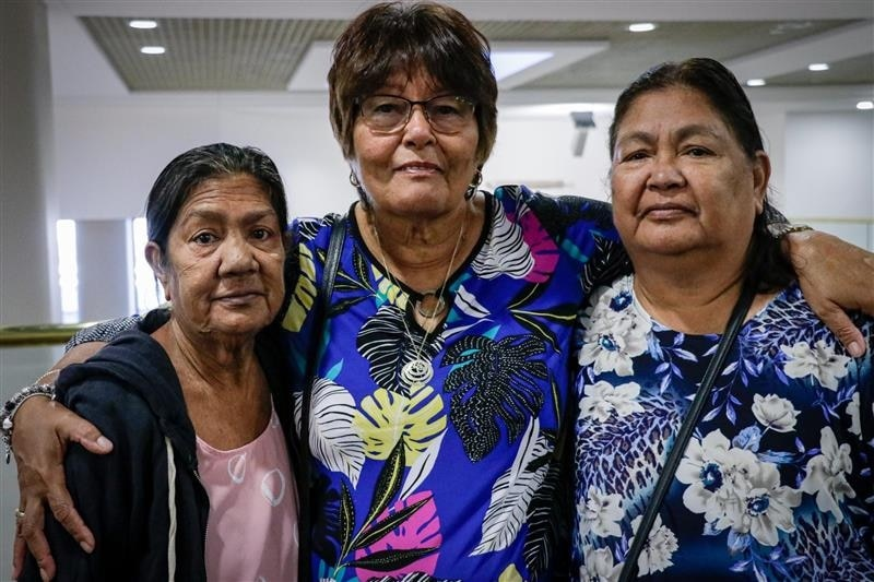 Josie Calma, Sharon Greenoff and Maxine Kunde have fought for many years to get justice.(ABC News: Tiffany Parker)
