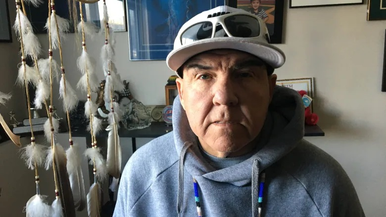 Joey Basaraba is one of those calling for Saskatchewan Catholic officials to release all records with the names of abuser priests. Basaraba says he was repeatedly sexually assaulted by a pair of Prince Albert priests starting at age six. (Jason Warick/CBC)