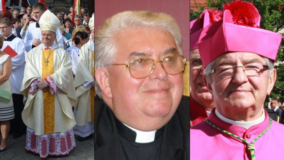 From left: Bishop Tadeusz Rakoczy (Wikimedia Commons/Silar); Bishop Jan Tyrawa (Wikimedia Commons/Krzysztof Mizera); Archbishop Slawoj Glodz (Wikimedia Commons/Joanna Adamik)