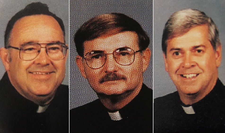 From left, the Rev. Samuel Venne, the Rev. Dennis Fronczak and the Rev. Arthur Smith. Photos courtesy of the Diocese of Buffalo's 1995 Priests' Pictorial Directory