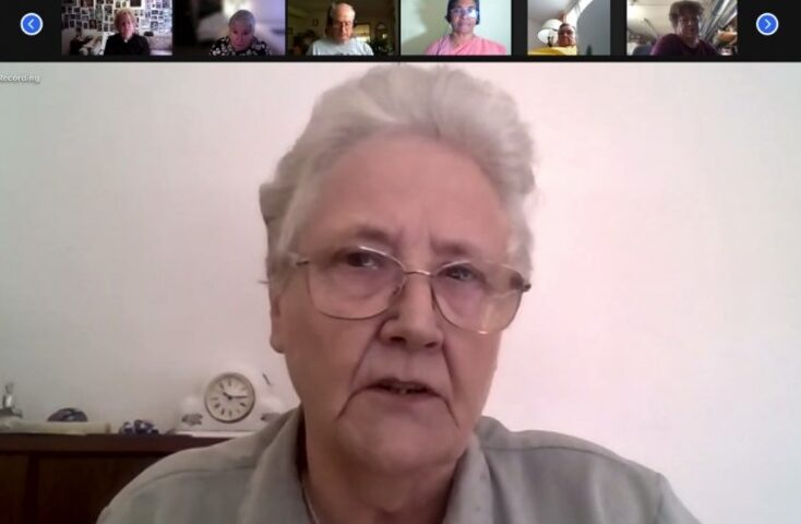Marie Collins, an Irish abuse survivor and former member of the papal clergy abuse commission, speaking during the FutureChurch webinar on June 15 (NCR screenshot)