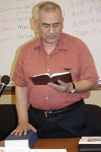 The Rev. Rosendo Urrabazo CMF, the head of the Claretians Catholic religious order in the United States. Claretians