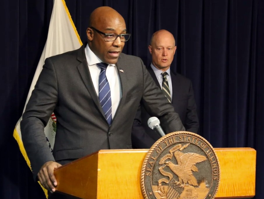 """Illinois Attorney General Kwame Raoul: If order clergy are """"going to be working, presiding or engaging in any way within the diocese, to us, they're no different from any priest that's offending."""" AP file"""