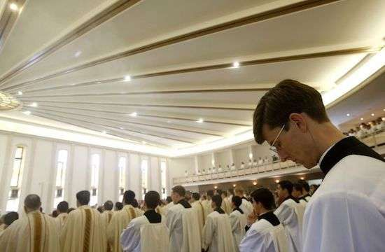 During a Mass celebrated at the main headquarters of the Legion of Christ, February 25, 2014. (Photo by RICCARDO DE LUCA/AP)  Read more at: https://international.la-croix.com/news/religion/scandals-have-weakened-the-legionaries-of-christ-in-mexico/14492