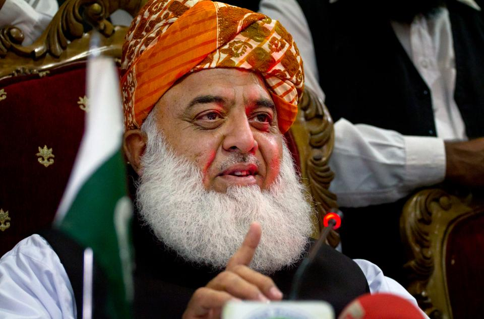 Fazal ur Rehman, a senior religious and political leader, faces criticism for not issuing any statement on the abuse case. (AP Archive)
