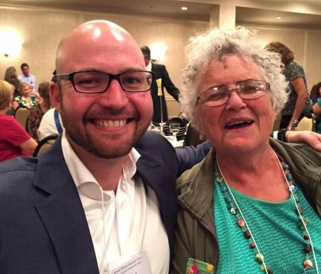 Ian Silverii and his former boss, Rep. Gwyn Green, D-Golden, at the Jefferson County Democratic Party's Jefferson-Jackson Dinner in 2015. Photo courtesy of Ian Silverii.