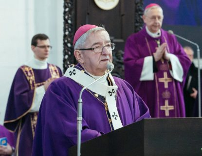 Polish Archbishop Slawoj Glodz is pictured in a Jan. 19, 2019, photo in Gdansk. The archbishop, who headed the Gdansk Archdiocese until August 2020, was elected mayor of his hometown after being sanctioned by the Vatican for ignoring sexual abuse. (CNS photo/Agencja Gazeta, Renata Dabrowska via Reuters)