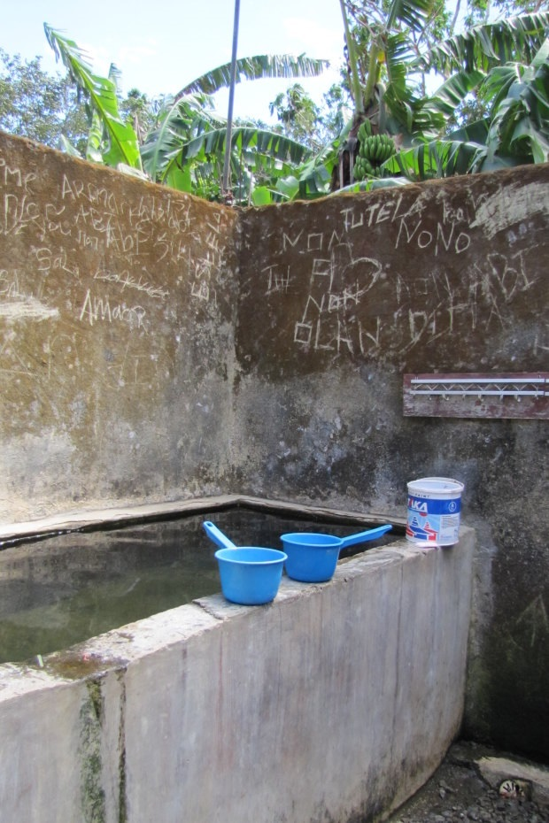 The bathing area at Topu Honis, where Daschbach would wash girls while nude. CREDIT:AP