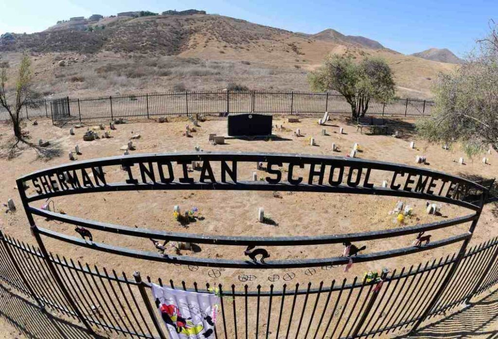 The Sherman Indian School Cemetery in Riverside as seen on Friday, July 2, 2021. (Photo by Will Lester, Inland Valley Daily Bulletin/SCNG)