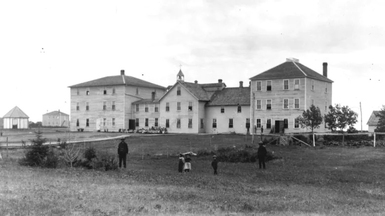 The Thunderchild Residential School operated from 1901 to 1948 near Delmas, Sask. (Provincial Archives of Saskatchewan)