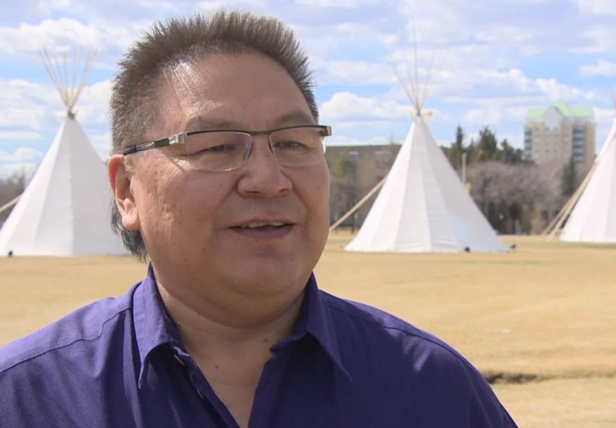 First Nations leaders such as Chief Michael Starr of Star Blanket Cree Nation say helping residential school survivors needs to be the Catholic church's top priority. (CBC / Tyler Pidlubny )