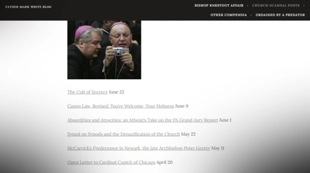 Father Mark White Blog