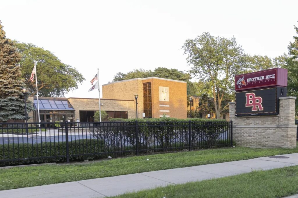 Brother Rice High School, 10001 S. Pulaski Rd., is one of two Chicago-area high schools run by the Irish Christian Brothers religious order. Anthony Vazquez / Sun-Times
