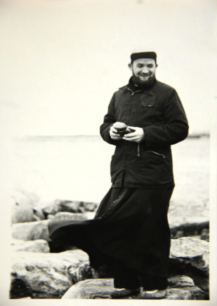 Father Joannes Rivoire, now in his early 90s and living in France, in an early, undated photo taken in Chesterfield Inlet. (Photo courtesy of Lieve Halsberghe)