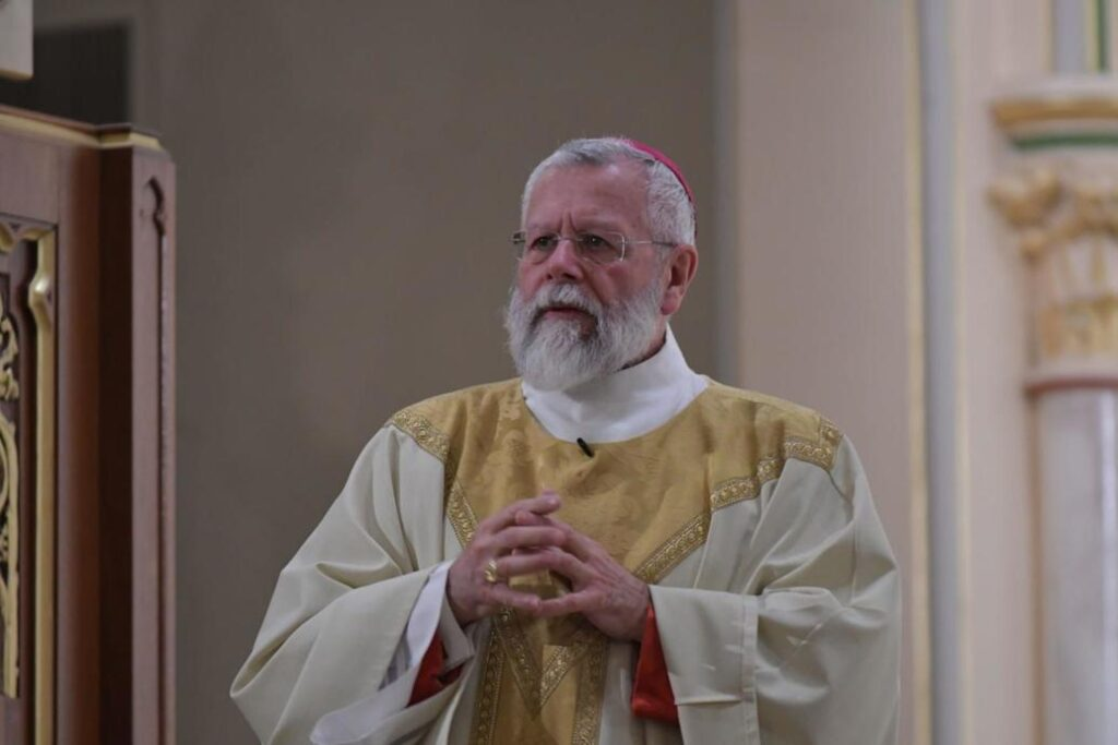 Bishop Peter A. Libasci has been accused of sexual abuse of a minor in New York in the 1980s.  File photo