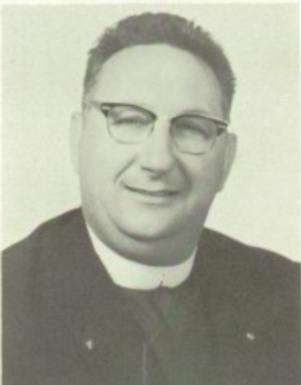Yearbook photo of late Holy Cross religious brother Stanley Repucci CSC.