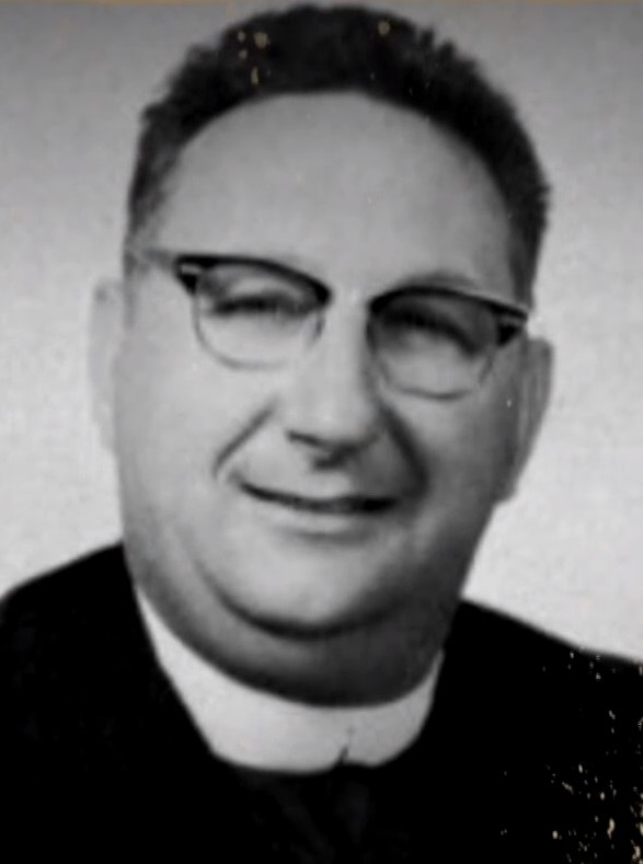 Brother Stanley Repucci CSC in a yearbook photograph