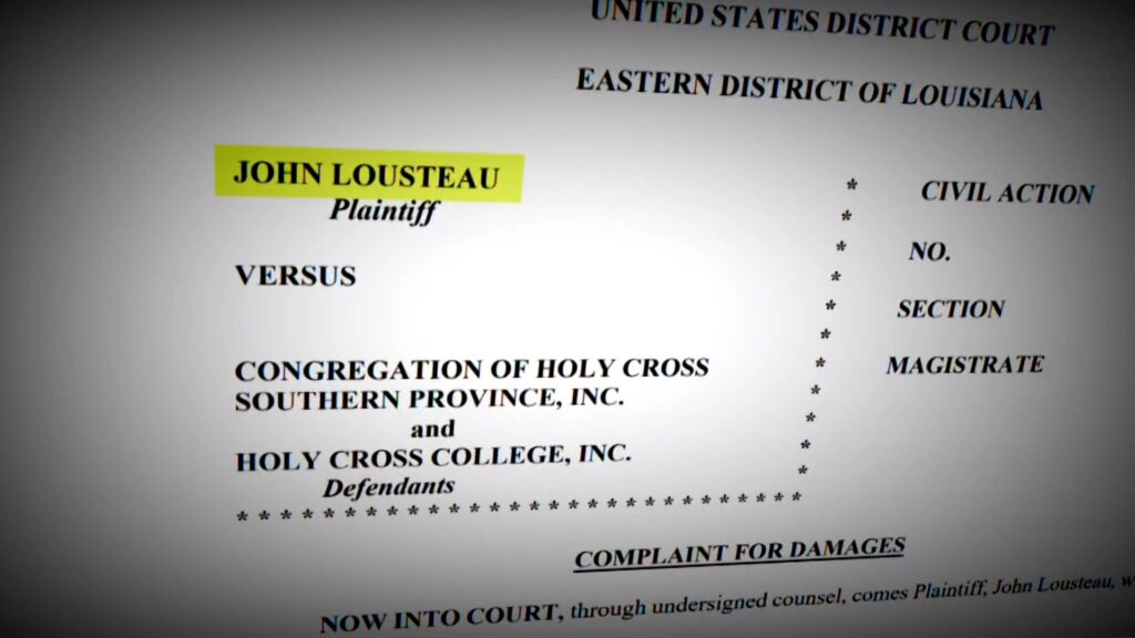John Lousteau v. Congregation of Holy Cross Southern Province, Excerpt 1 of complaint