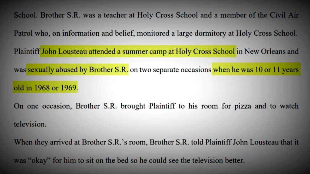 John Lousteau v. Congregation of Holy Cross Southern Province, Excerpt 3 of complaint