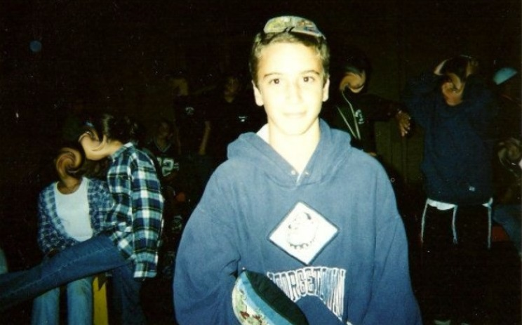 Lee Soffer at a USY convention in the late 1990s. (Courtesy)