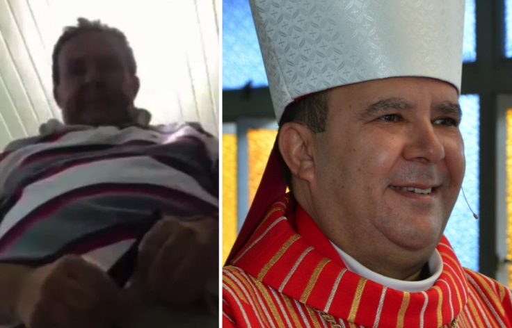 A still from video that leaked on social media (left) and Tome Ferreira da Silva. Twitter