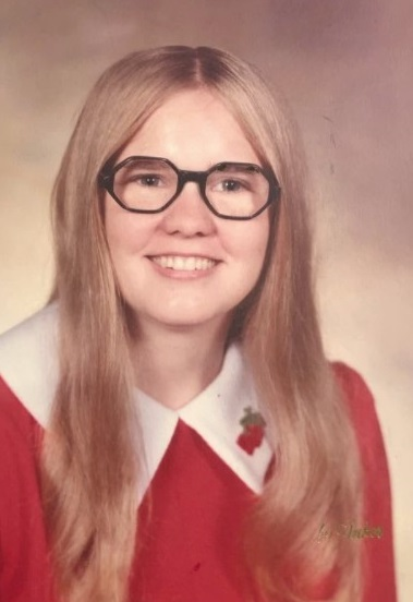 Vicki Schmidt's high school graduation photo. It was taken right around the time she was physically abused for the first time.